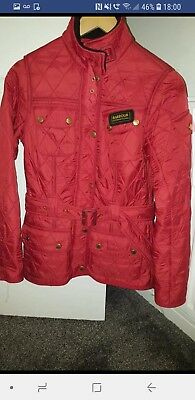 Barbour International Red Quilted Ladies/ Girls Polar Quilt Jacket. Size 8