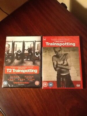 Trainspotting and T2 Trainspotting [DVD] 2 DVDs new and sealed