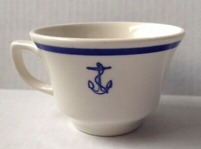 1987 U. S. Navy Wardroom Mess Fouled Anchor Military Coffee Cup, Homer Laughlin