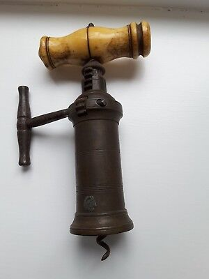 19th CENTURY KINGS RACK & PINION CORKSCREW, MID / LATE 1800s COLLECTABLE BARWARE