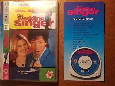 Wedding singer sandler psp umd Film video movie Sony rare playstation portable
