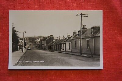 Rare Vintage Early Photograph Postcard MAIN STREET DUNDONALD Kilmarnock Ayrshire