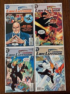 SUPERMAN'S NEMESIS LEX LUTHOR #1-4 Complete Run Set DC Comic Lot 1 2 3 4