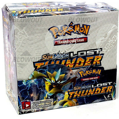 Pokemon TCG Sun & Moon Lost Thunder Booster Box 36 buste in inglese - NUOVO!