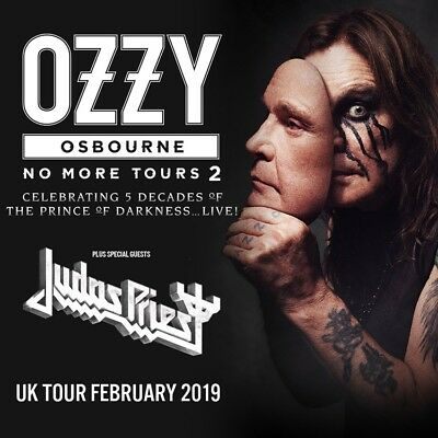 Ozzy Osbourne Unreserved Standing ticket to Resorts World Arena on 9th Feb 2019