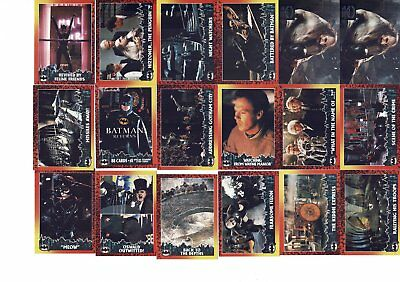 Lot de Cartes Batman Returns Robin 1992