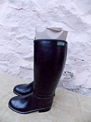 Aigle Long Rubber Riding Boots Size 36  New With Tag Stitched Top Lined XL