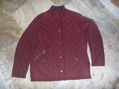 Barbour Chelsea Sports Quilt Jacket Mens Size Xl Burgundy Red