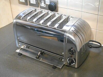 Superb New Gen Dualit 6 Slice Polished Six Toaster 60144 D6Bmha Extra Wide Slots