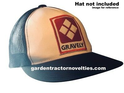 Gravely garden farm tractor EMBROIDERED shirt hat EMBLEM IRON-ON SEW-ON PATCH