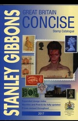 New Great Britain Concise Stamp Catalogue 2017 by Stanley Gibbons.
