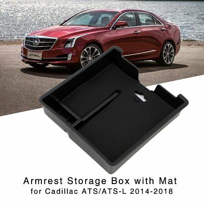 Armrest Storage Box for Cadillac ATS / ATS-L 2014-18 Central Console Holder Tray