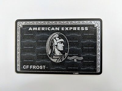 American Express Amex Centurion Black Card Prop