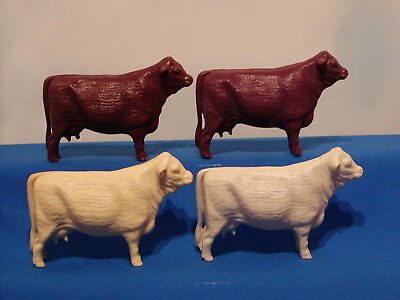 4 Vintage Hartland Farm Animals Beef Cows