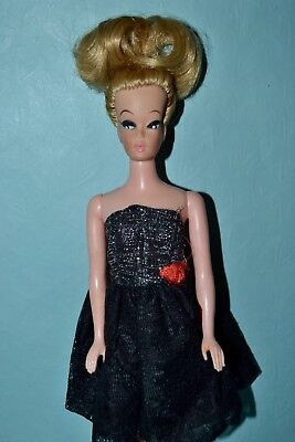 Vintage Barbie Clone Doll - Blonde from Uneeda, British Colony Dress, Shoes