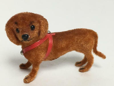 Kunstlerschutz Handwork West Germany Flocked Dachshund Dog