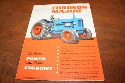 Ford New Fordson Major Diesel Tractor Brochure 1953!