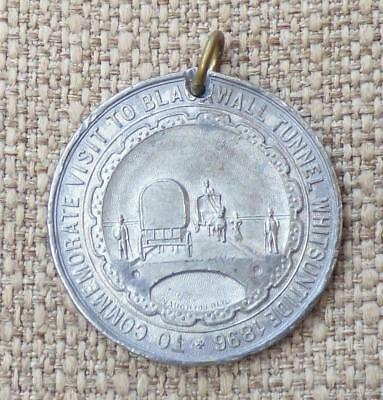 BLACKWALL ROAD TUNNEL, London - 1896 VISITOR MEDAL (Before 1897 Opening)
