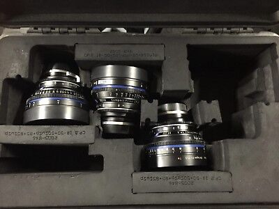 ZEISS Distagon Kit with case 35mm /50mm /85mm  T1.5 EF mount for Canon