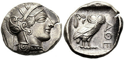 FORVM aEF Athens Old Style Tetradrachm Centered Toned Nice Coin!