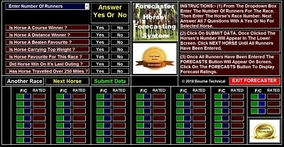DOWNLOAD FORECASTER  High Performance Forecast Horse Racing System