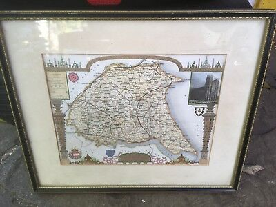 Antiquarian map. Yorkshire East Riding. C 1840