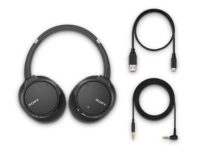 Sony WH-CH700N/B All Accessories Included Noise Cancelling WHCH700N (Black)