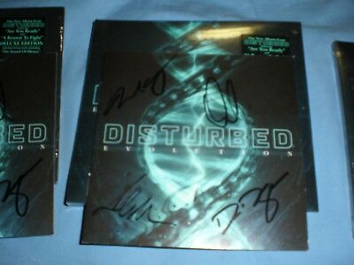 Disturbed Evolution CD deluxe edition Autographed!!!