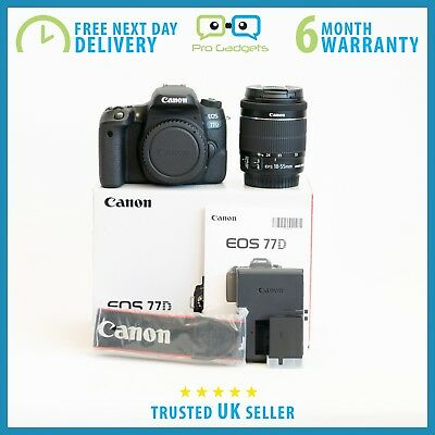 *Mint* Canon EOS 77D DSLR Camera with EF-S 18-55mm IS STM - 6 Month Warranty
