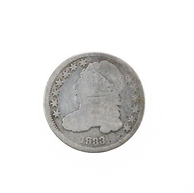 Raw 1833 Capped Bust 10C Circulated US Philadelphia Mint Silver Dime Coin