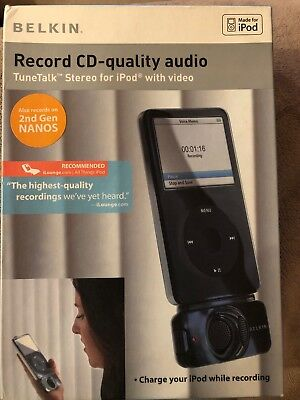 Belkin F8Z092-BLK TuneTalk Stereo for ipod with video cd quality audio record