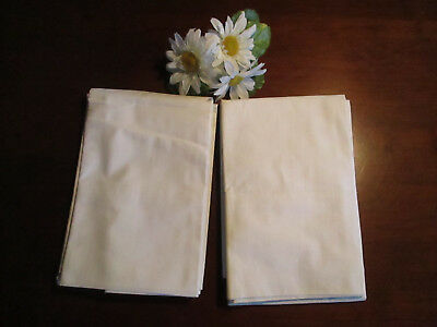 Pair of Lady Pepperell White Pillowcases NOS, Vintage, Nice Condition