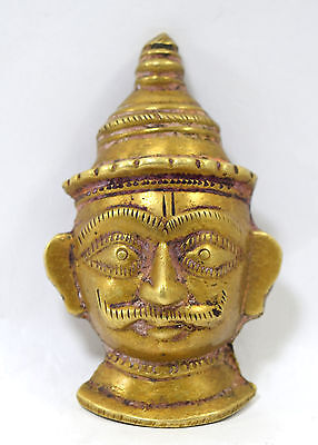 18c RARE ANTIQUE LORD SHIVA HEAD STATUE RELIGIOUS HINDU HOLY FIGURE. G53-239 US