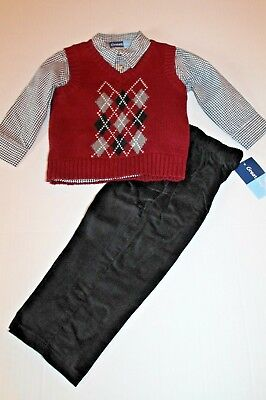 4efe63f2f GREAT GUY BABY Boys 3pc Holiday Train Vest Outfit Set Size 12 Months ...