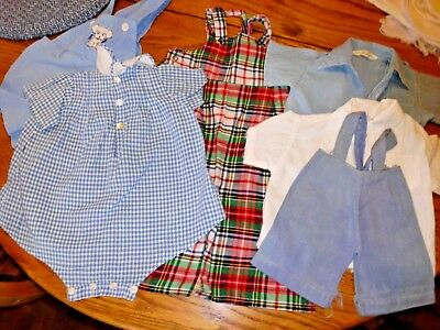 Lot Vintage 1950's Baby/Doll Clothes-Pants, Shirts, Playsuit Various Sizes