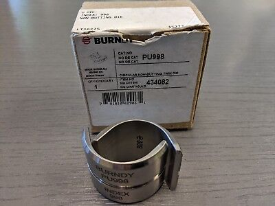 Burndy PU998 Non-Butting Stainless Steel Crimping Twin U Die Index 998