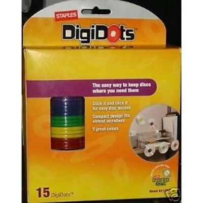 NEW ~ 2 Boxes Staples DigiDots Disc Organizer Hubs ~ Hang Your Disks Anywhere