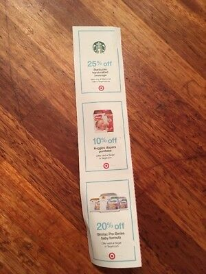 Starbucks Coupon 25% Off One Beverage Coffee Drink Target Huggies Similac Pro