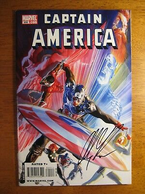 Wow! Captain America #600 **signed By Alex Ross!** Coa!