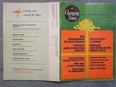 1973 DECEMBER CHANGING TIMES MAGAZINE THE KIPLINGER SERVICE FOR FAMILIES  Vol. 2