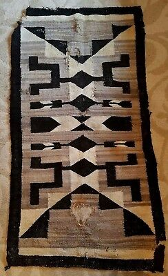 Antique Navajo Rug Blanket As Is Old Southwest Indian Woven Flagstaff Arizona