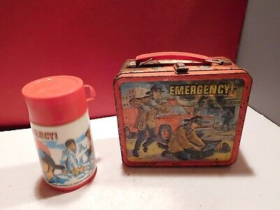 EMERGENCY TV SHOW 1973 Lunch Box with Thermos