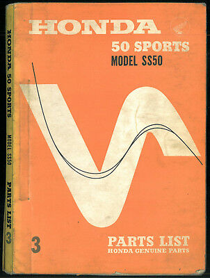 Parts List HONDA SS 50 - 1966 / 1967 Catalogue des pièces Manuel Manual SS50 ACT