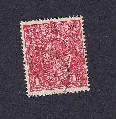1924 Australia 1&1/2d RED KGV UNWATERMARKED NO WMK PAPER stamp FINE USED FU