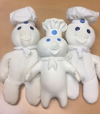 Pillsbury Doughboy Plush and Rubber Set Of 3