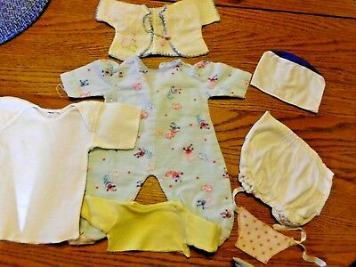 Lot Vintage 1950's Doll Clothes & Accessories-Sleeper, Panties, Tops