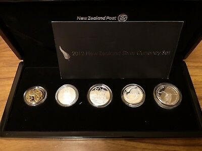 2012 New Zealand 5 coin silver proof currency set: 41.1g