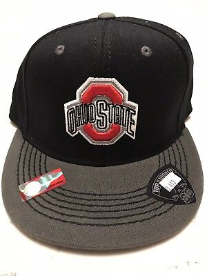 low priced d8b1a fdac4 Ohio State Buckeyes Fitted Hat Size Large Black NWT Top of the World TOW 7 5