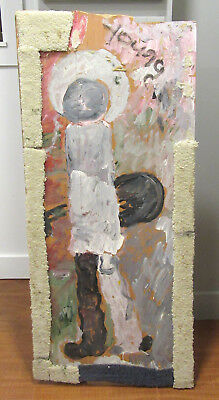 Purvis Young - Museum Quality - Signed Original Painting Angel Saint Blues Dude