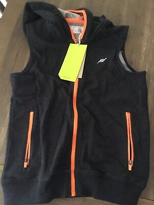 Boys Zip Up Black Hooded Sports Vest - Target Size 8